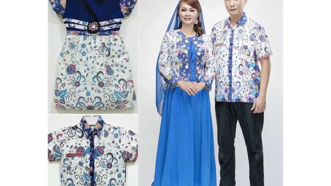 Design Model Baju Lebaran Batik E6d5 Model Baju Batik Gamis Set Keluarga Terbaru 2017 Untuk