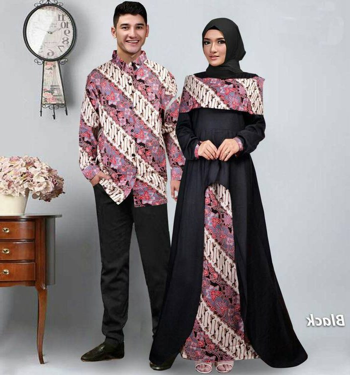 Design Model Baju Lebaran Batik U3dh Baju Gamis Couple Pasangan Batik Lebaran Sabna Gamisalya