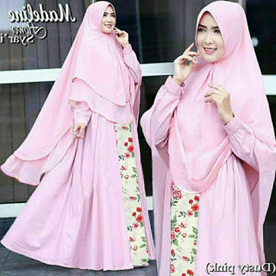 Design Model Baju Lebaran Muslimah S1du 80 Model Baju Lebaran Terbaru 2019 Muslimah Trendy Model
