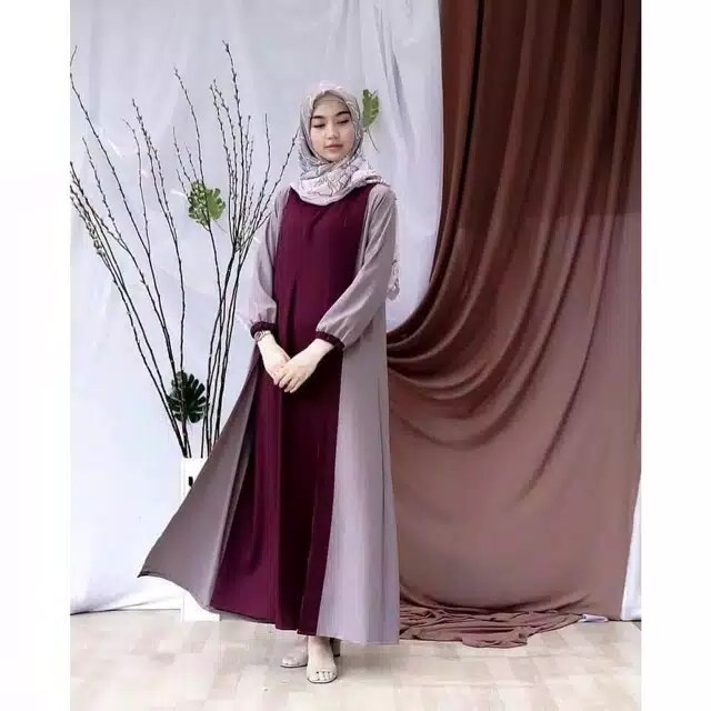Design Model Baju Lebaran Nissa Sabyan O2d5 Gamis Remaja Modern Nissa Sabyan Katalog Bajugamismu