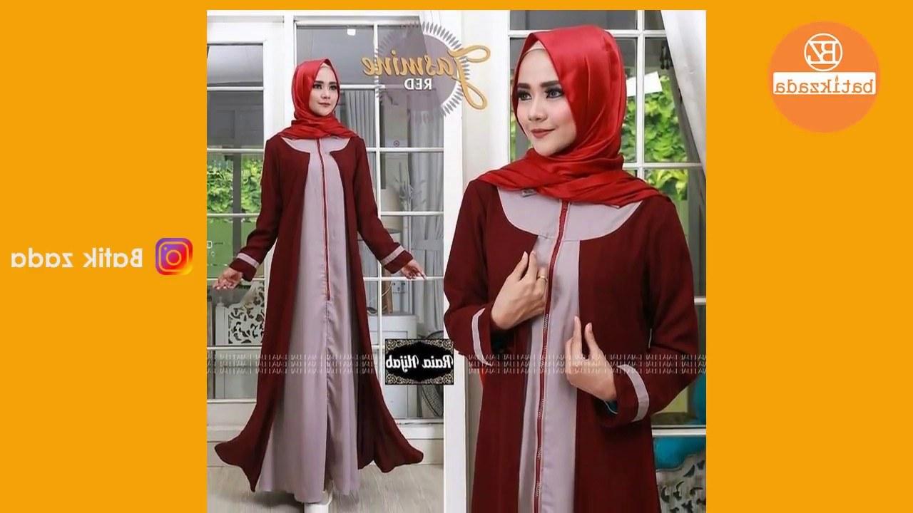 Design Model Baju Lebaran Simple 0gdr Trend Model Baju Gamis Lebaran 2018 Simple Mewah Elegan