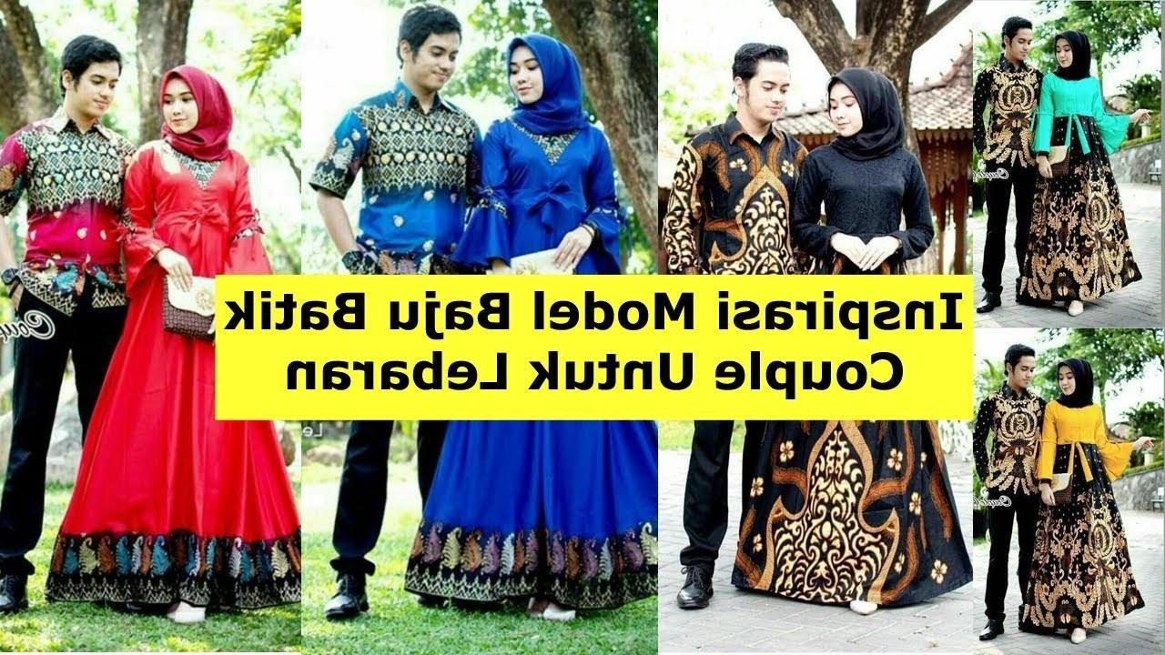 Design Model Baju Lebaran Syar'i 2019 Zwd9 Model Baju Batik Couple Untuk Lebaran 2019