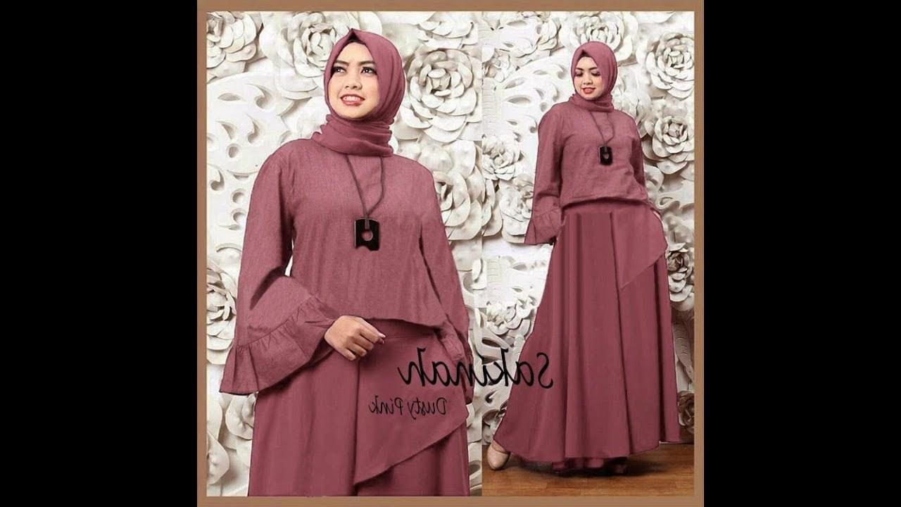 Design Model Baju Lebaran Wanita 2019 Thdr Trend Model Baju Gamis Terbaru 2018 2019