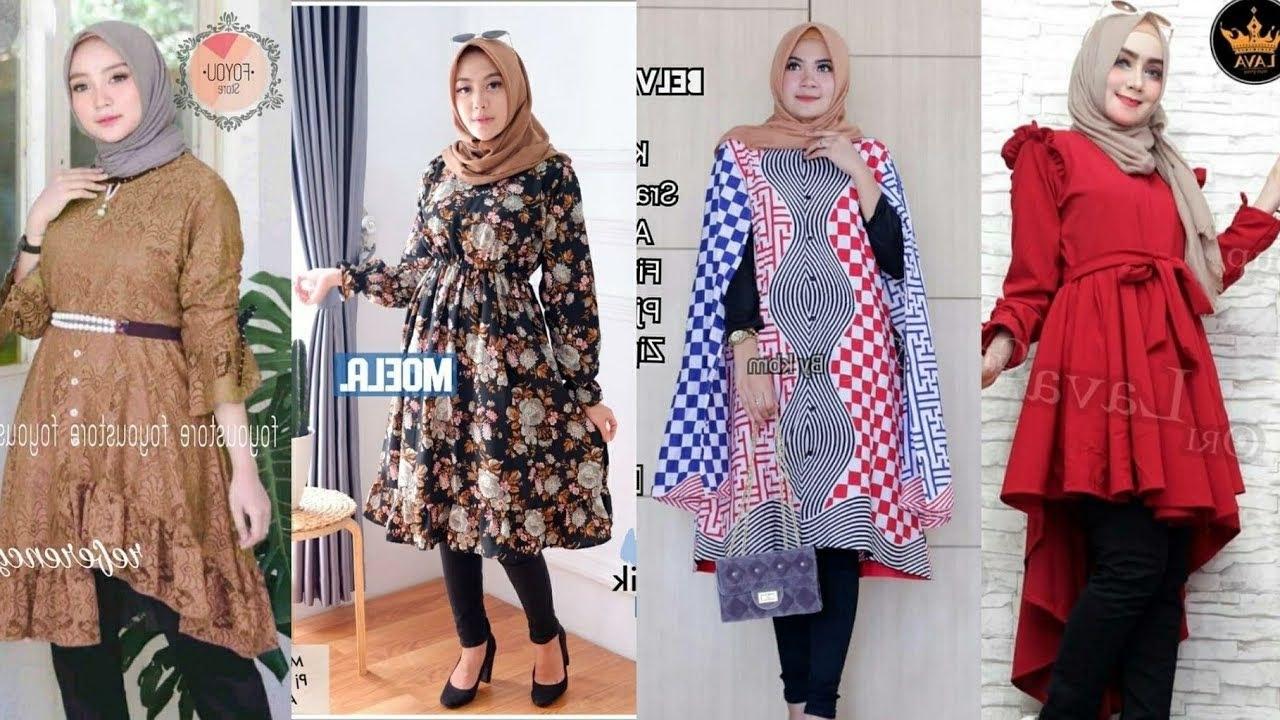 Design Model Baju Lebaran Wanita 2019 U3dh Tren Model Baju Wanita Hijab Terbaru Untuk Lebaran 2019