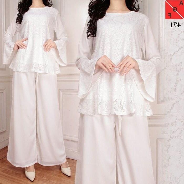 Design Model Baju Lebaran Warna Putih Kvdd Baju Lebaran Terbaru 2018 Kulot Set Putih Af471 Model
