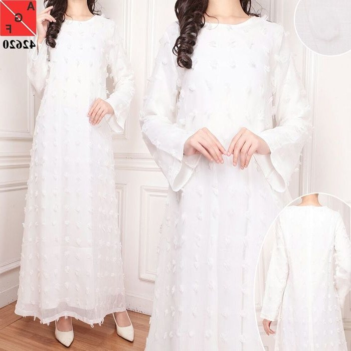 Design Model Baju Lebaran Warna Putih T8dj Baju Lebaran 2018 Rubiah Putih Af Model Baju Gamis