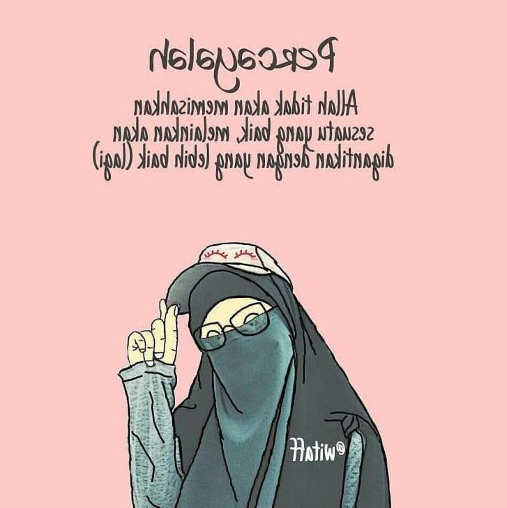 Design Muslimah Bercadar Cantik Dwdk 75 Gambar Kartun Muslimah Cantik Dan Imut Bercadar