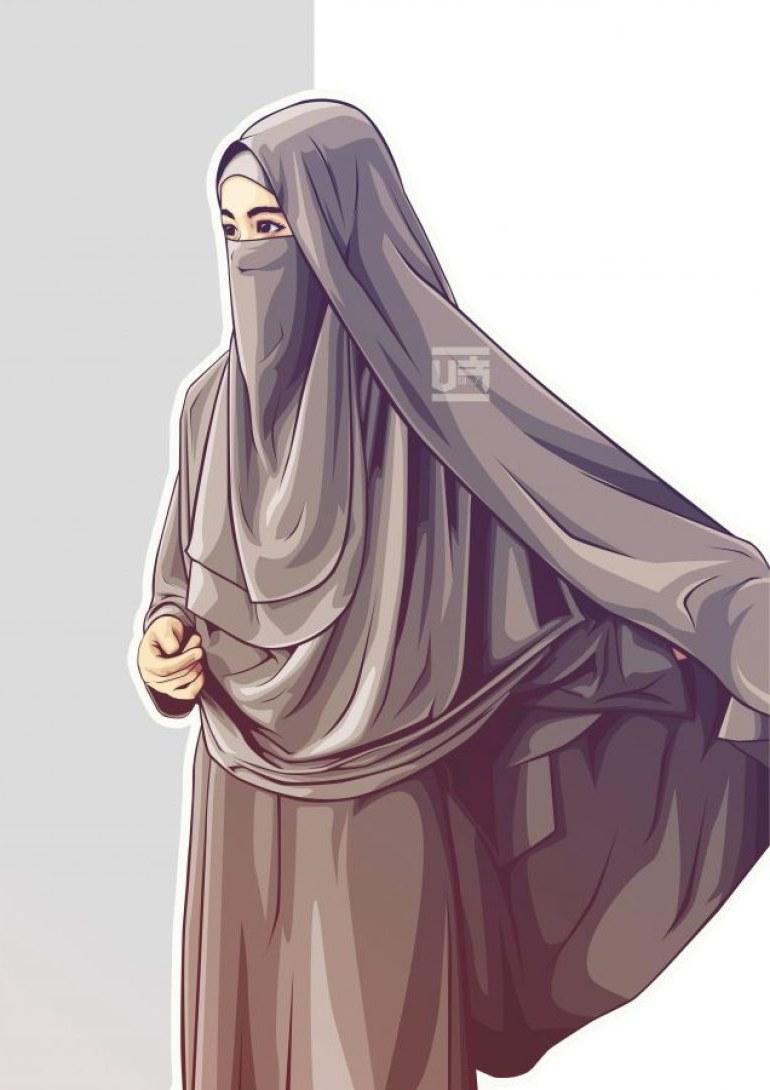 Design Muslimah Bercadar Cantik Ipdd Mewarnai Gambar Sketsa Wanita Muslimah Bercadar Terbaru