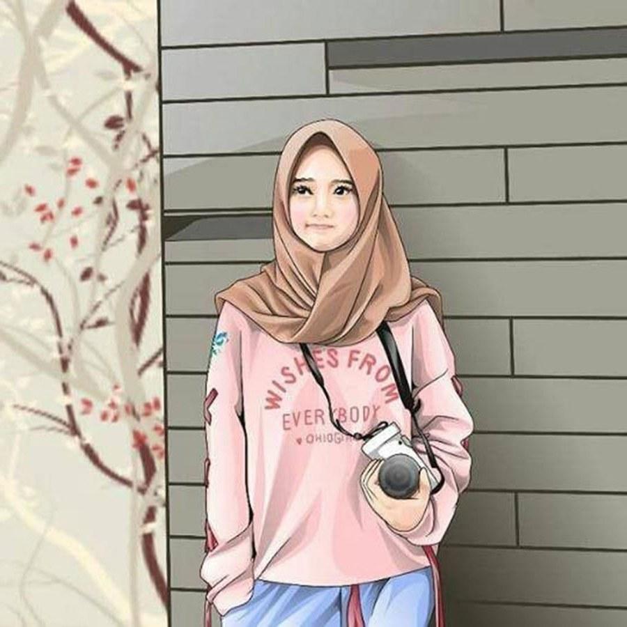Design Muslimah Bercadar Cantik Kartun Txdf 1000 Gambar Kartun Muslimah Cantik Bercadar Kacamata El
