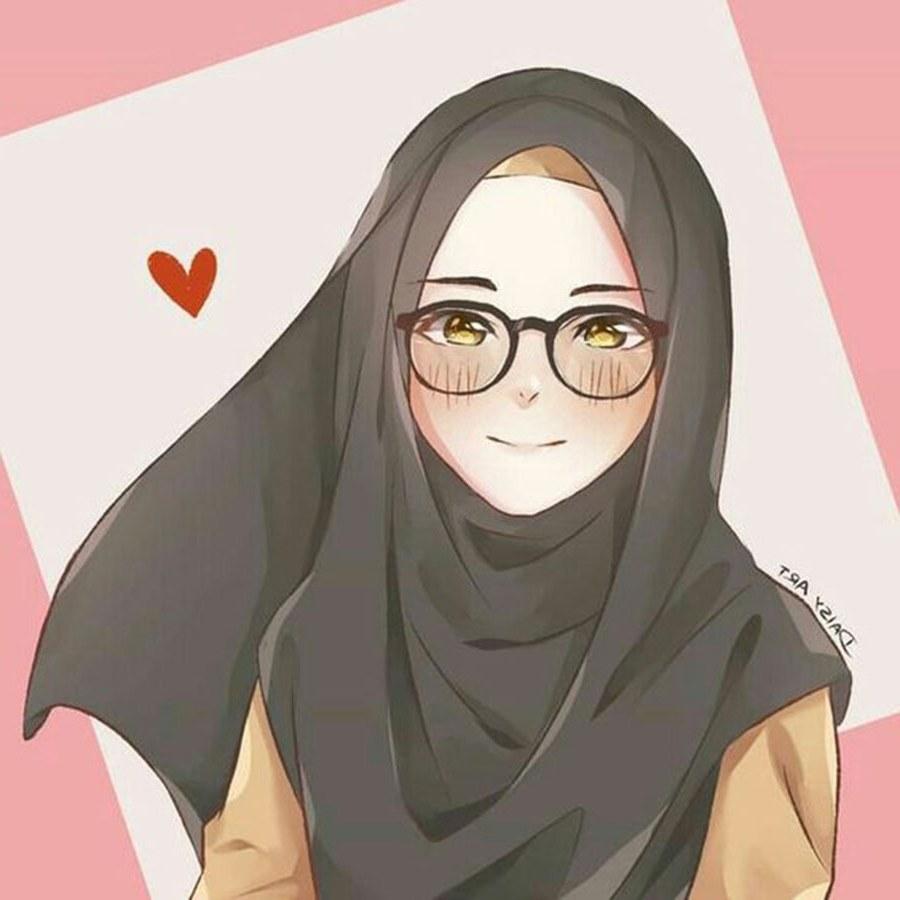 Design Muslimah Bercadar Cantik Q5df 1000 Gambar Kartun Muslimah Cantik Bercadar Kacamata El