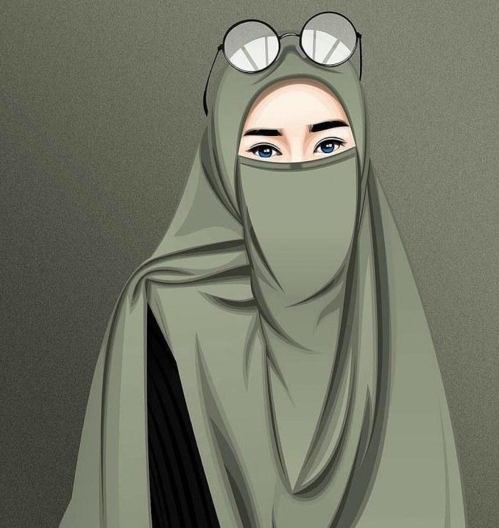Design Muslimah Bercadar Dari Belakang Gdd0 Gambar Kartun Muslimah Lucu Keren Dll Web Informasi