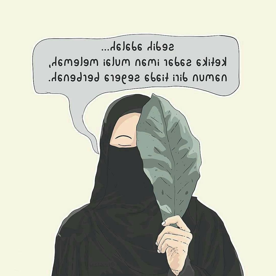 Design Muslimah Bercadar Kartun Thdr Foto Kartun Muslimah Pake Cadar