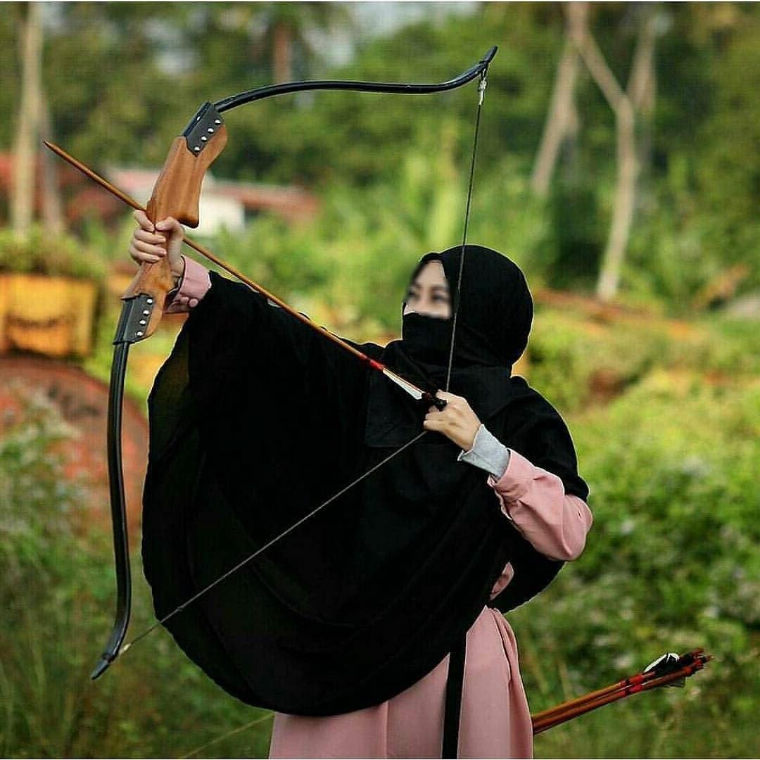 Design Muslimah Bercadar Memanah Bqdd top Gambar Kartun Muslimah Memanah