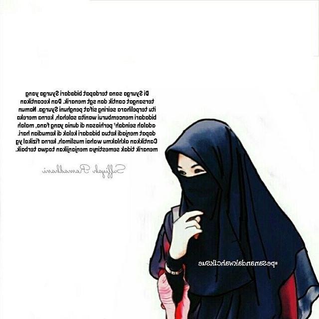 Design Muslimah Bercadar Memanah Fmdf 50 Gambar Kartun Muslimah Bercadar Cantik Berkacamata