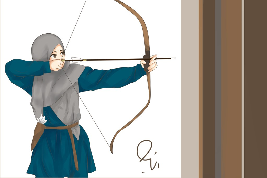 Design Muslimah Bercadar Memanah Gdd0 Gambar Kartun Muslimah Memanah Koleksi Gambar Hd