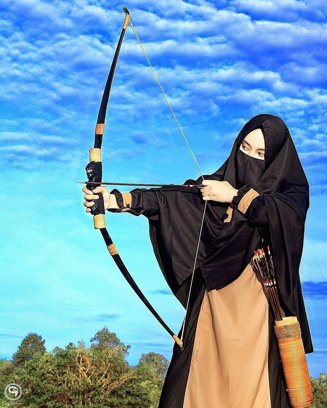 Design Muslimah Bercadar Memanah Qwdq 6200 Koleksi Gambar Kartun Wanita Bercadar Sedang Memanah