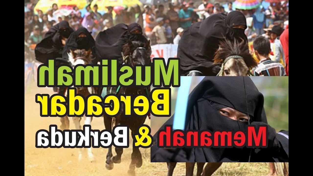 Design Muslimah Bercadar Memanah Rldj Mengagumkan Muslimah Bercadar Tangkas Berkuda Lihai