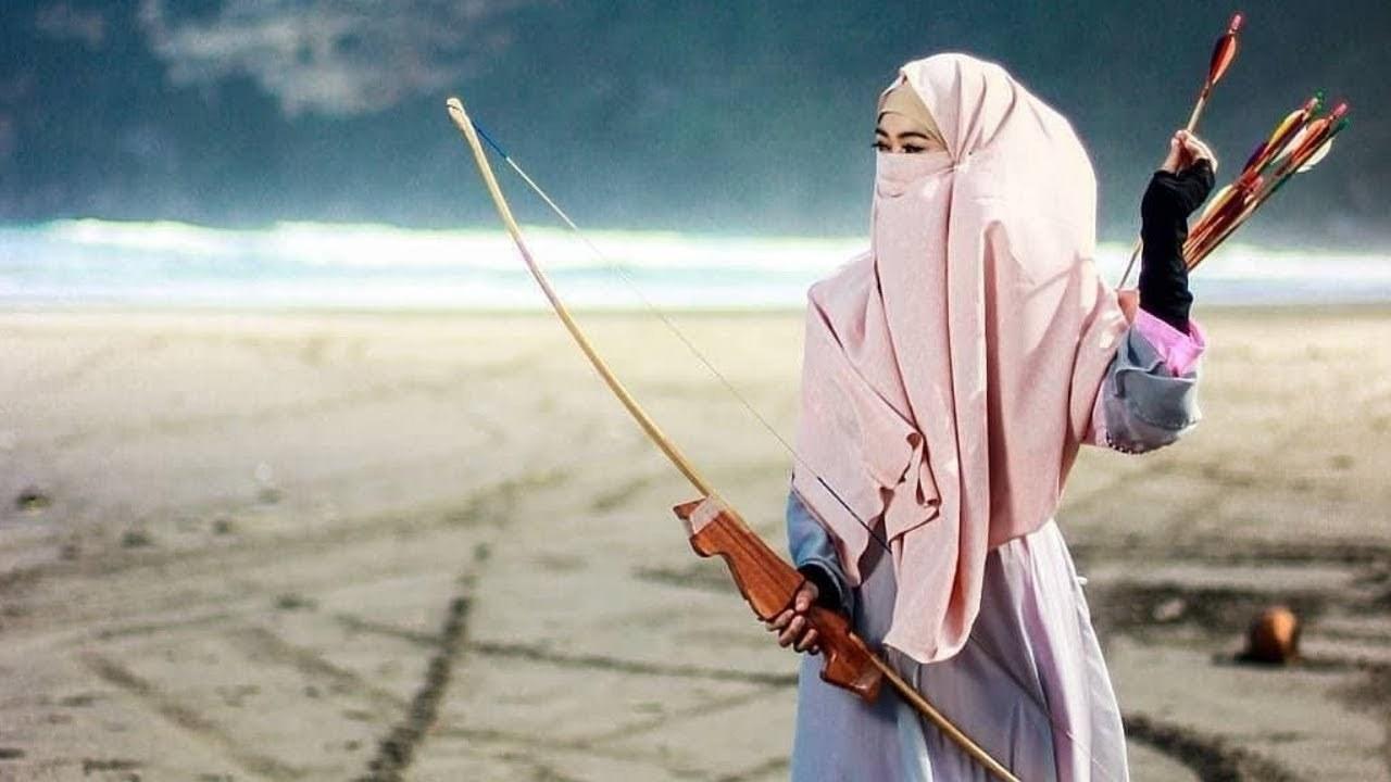 Design Muslimah Bercadar Memanah S1du Muslimah Bercadar Tangkas Memanah