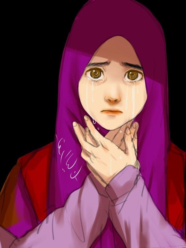 Design Muslimah Kartun Sedih 0gdr 55 Gambar Kartun Guru Berkerudung