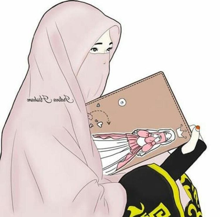 Design Muslimah Kartun Sedih Thdr 300 Gambar Kartun Muslimah Bercadar Cantik Sedih Keren