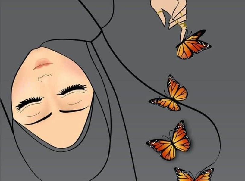Design Muslimah Kartun Sedih Tqd3 30 Gambar Kartun Muslimah Bercadar Syari Cantik Lucu