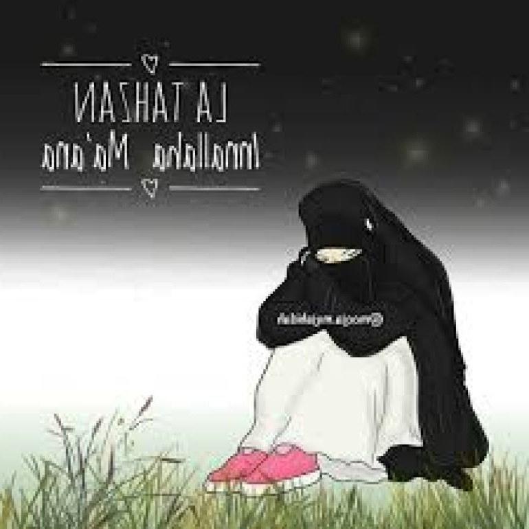 Design Muslimah Kartun Sedih Zwdg 75 Gambar Kartun Muslimah Cantik Dan Imut Bercadar