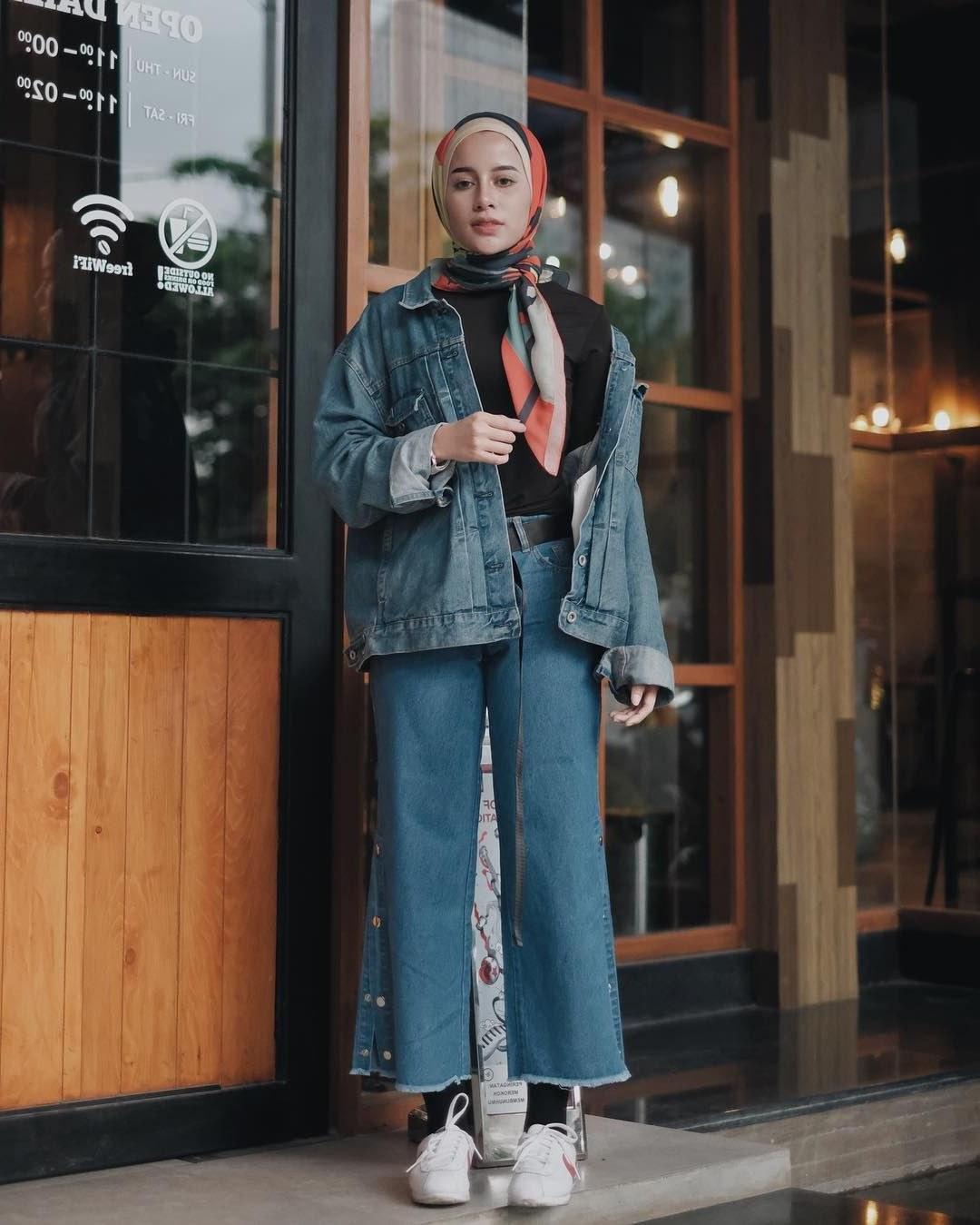 Design Ootd Baju Lebaran Remaja 2020 Nkde Outfit Baju Remaja Berhijab Ala Selebgram 2018 Longpants