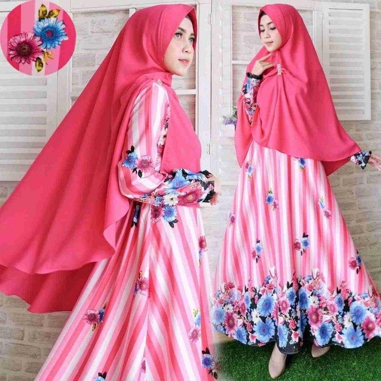 Design Poto Baju Lebaran Drdp Gamis Terbaru Balotelli Gz524 Pink Model Baju Gamis Terbaru