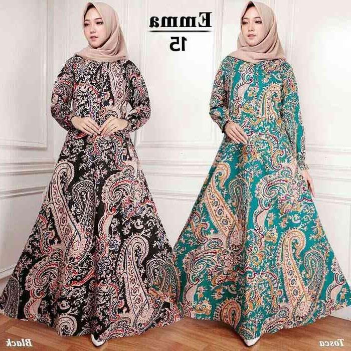 Design Poto Baju Lebaran Irdz Trend Gamis Lebaran 2018 Batik Keong Emma Model Baju