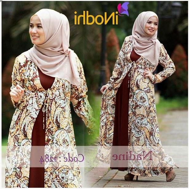 Design Poto Baju Lebaran O2d5 10 Contoh Baju Muslim Syar I Model Baru 2015