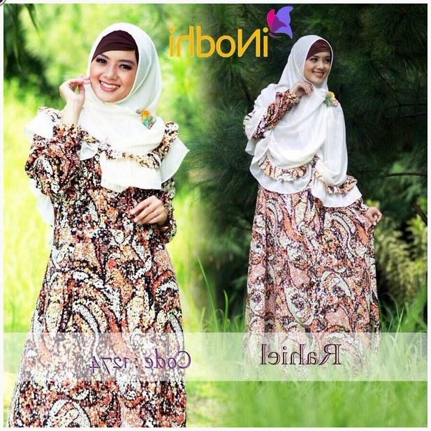Design Poto Baju Lebaran Q5df 10 Contoh Baju Muslim Syar I Model Baru 2015