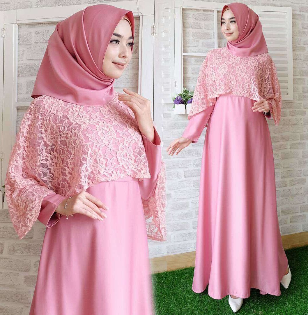 Design Poto Baju Lebaran Tqd3 Model Bawahan Rok Panjang Muslimah Cantik Bahan Katun