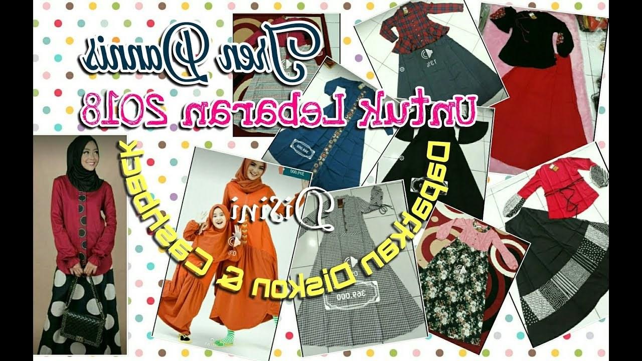 Design Referensi Baju Lebaran 2018 Txdf Tren Baju Lebaran Dannis 2018 Busana Wanita Muslimah