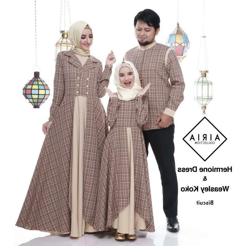 Design Seragam Baju Lebaran Keluarga 3id6 30 Model Gamis Couple Keluarga Untuk Lebaran Fashion