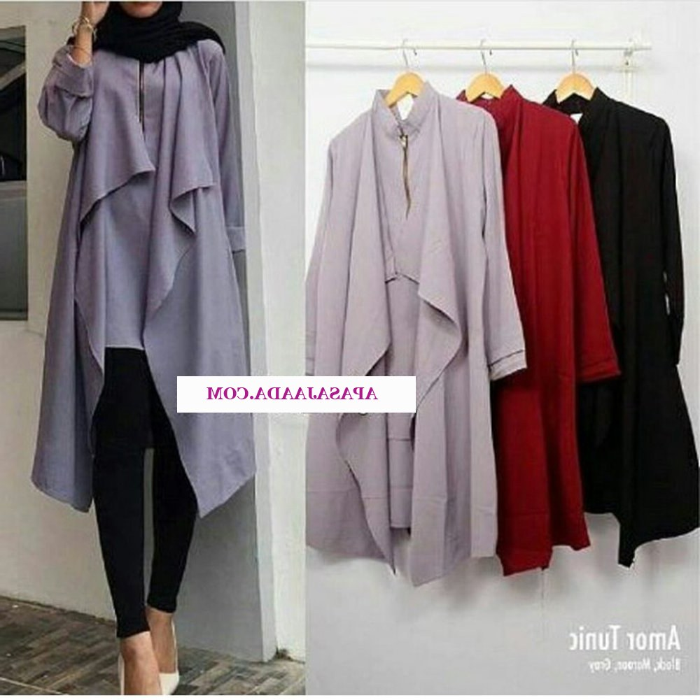 Design Shopee Baju Lebaran 8ydm Baju atasan Busana Muslim Wanita Blouse Blus Gamis Tunik
