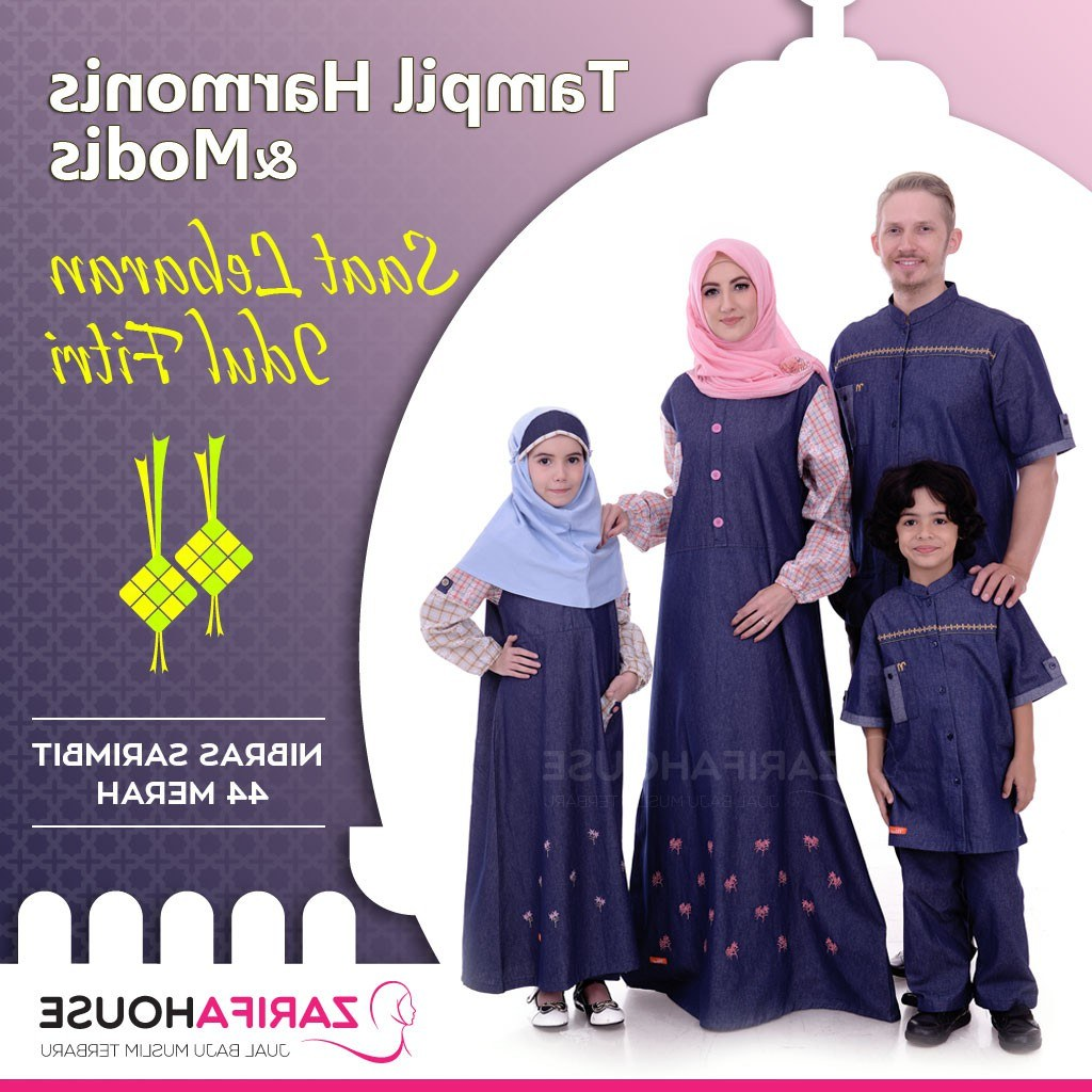 Design Shopee Baju Lebaran Etdg Baju Lebaran Keluarga Nibras Sarimbit 44 Merah