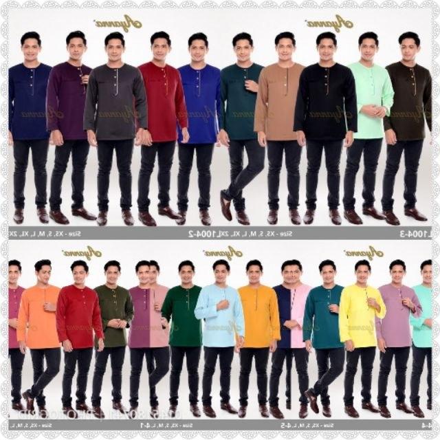 Design Shopee Baju Lebaran S5d8 Baju Raya Dad Mens Wear Kurta Adha Dewasa Raya Baju