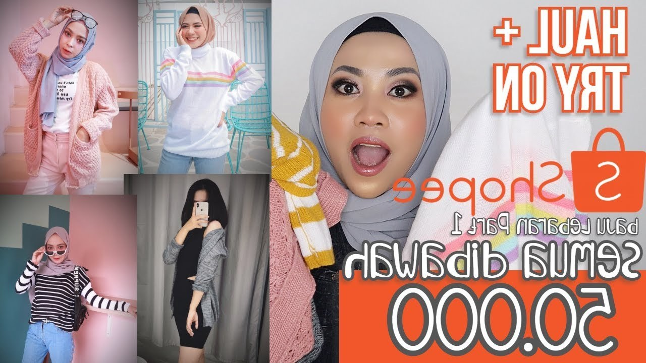 Design Shopee Baju Lebaran Wddj toko Cardigan Sweater Murah Di Shopee Unboxing Shopee Haul