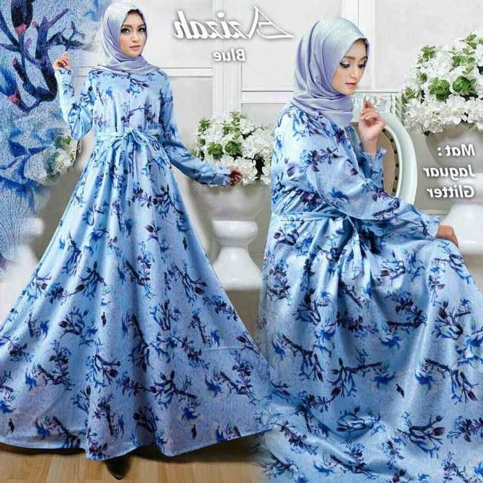 Design Trend Baju Lebaran Anak Perempuan 2018 Q0d4 Baju Lebaran 2018 Azizah Biru Model Baju Gamis Terbaru