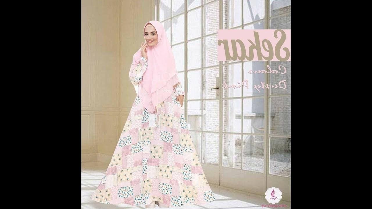 Design Warna Baju Lebaran 2018 Ipdd Baju Gamis Syari Warna soft Untuk Lebaran 2018
