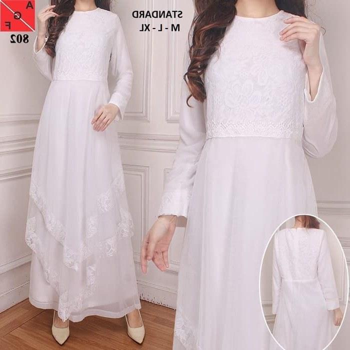 Design Warna Baju Lebaran 2019 Q0d4 Baju Gamis Lebaran Trendy 2019 Warna Putih Af802