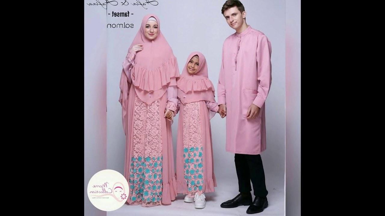 Ide Baju Lebaran 2017 Keluarga 9ddf Model Baju Muslim Gamis Lebaran 2017