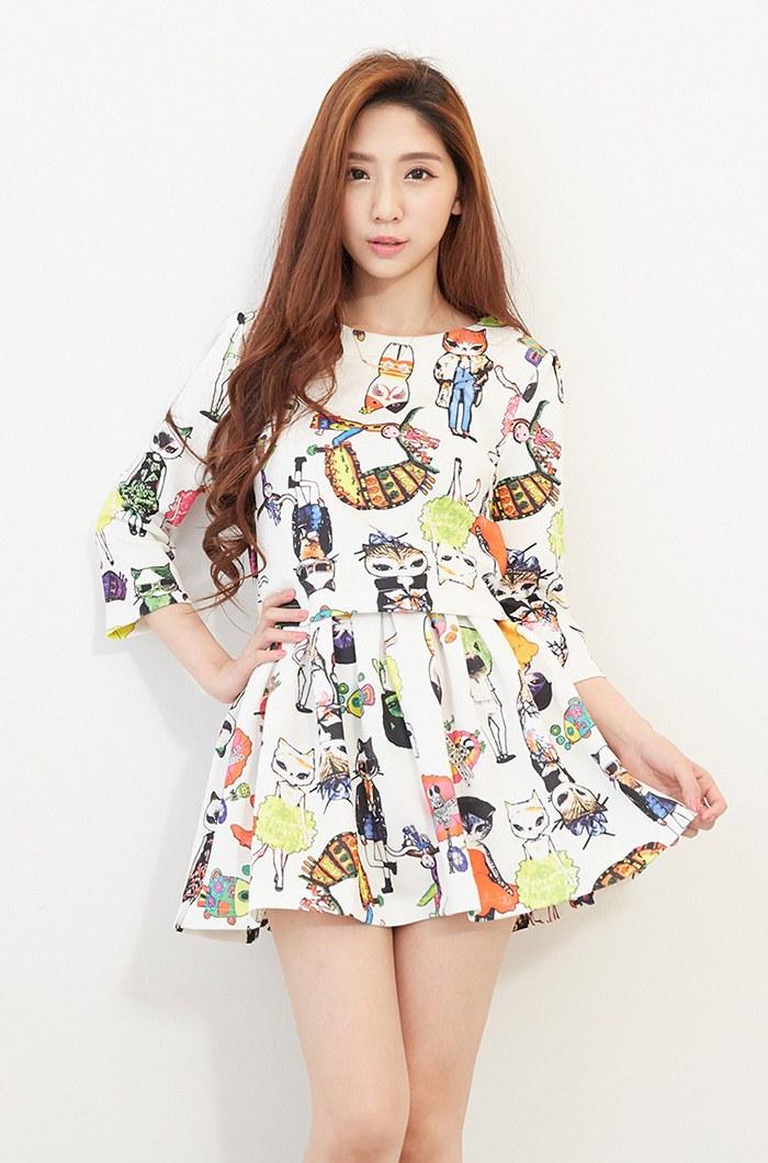 Ide Baju Lebaran Ala Korea 8ydm Model Baju Dress Korea Trend Masa Kini