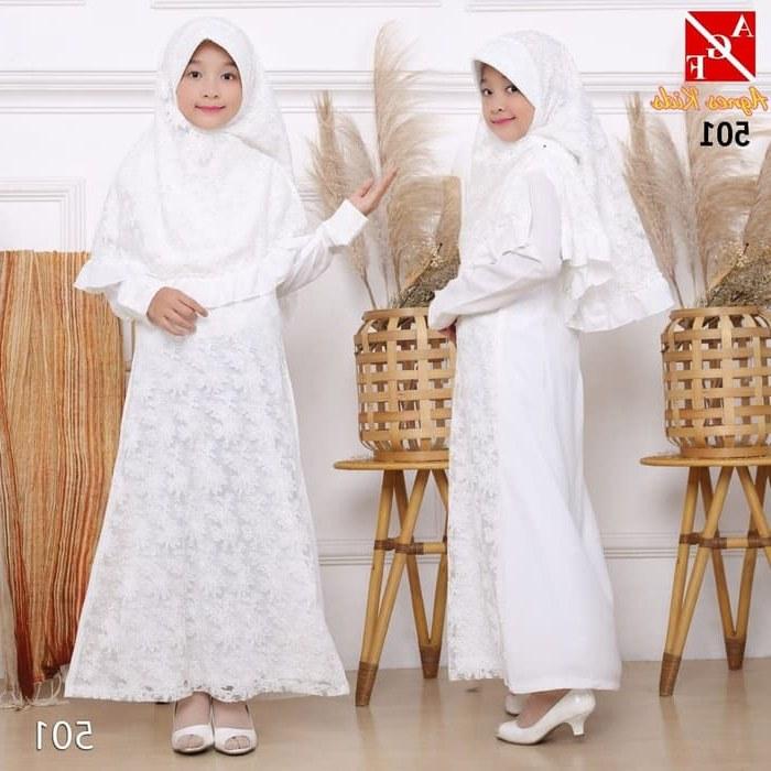 Ide Baju Lebaran Anak 1 Tahun 8ydm Jual Agnes Gamis Putih Anak Perempuan Baju Muslim Lebaran