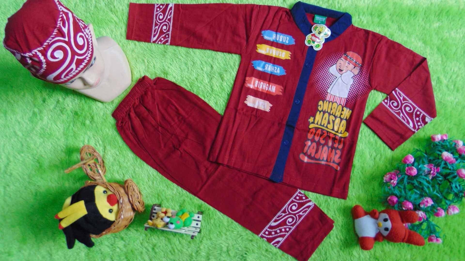 Ide Baju Lebaran Anak 1 Tahun Mndw Paling Laris Setelan Baju Koko Muslim Lebaran Ramadhan