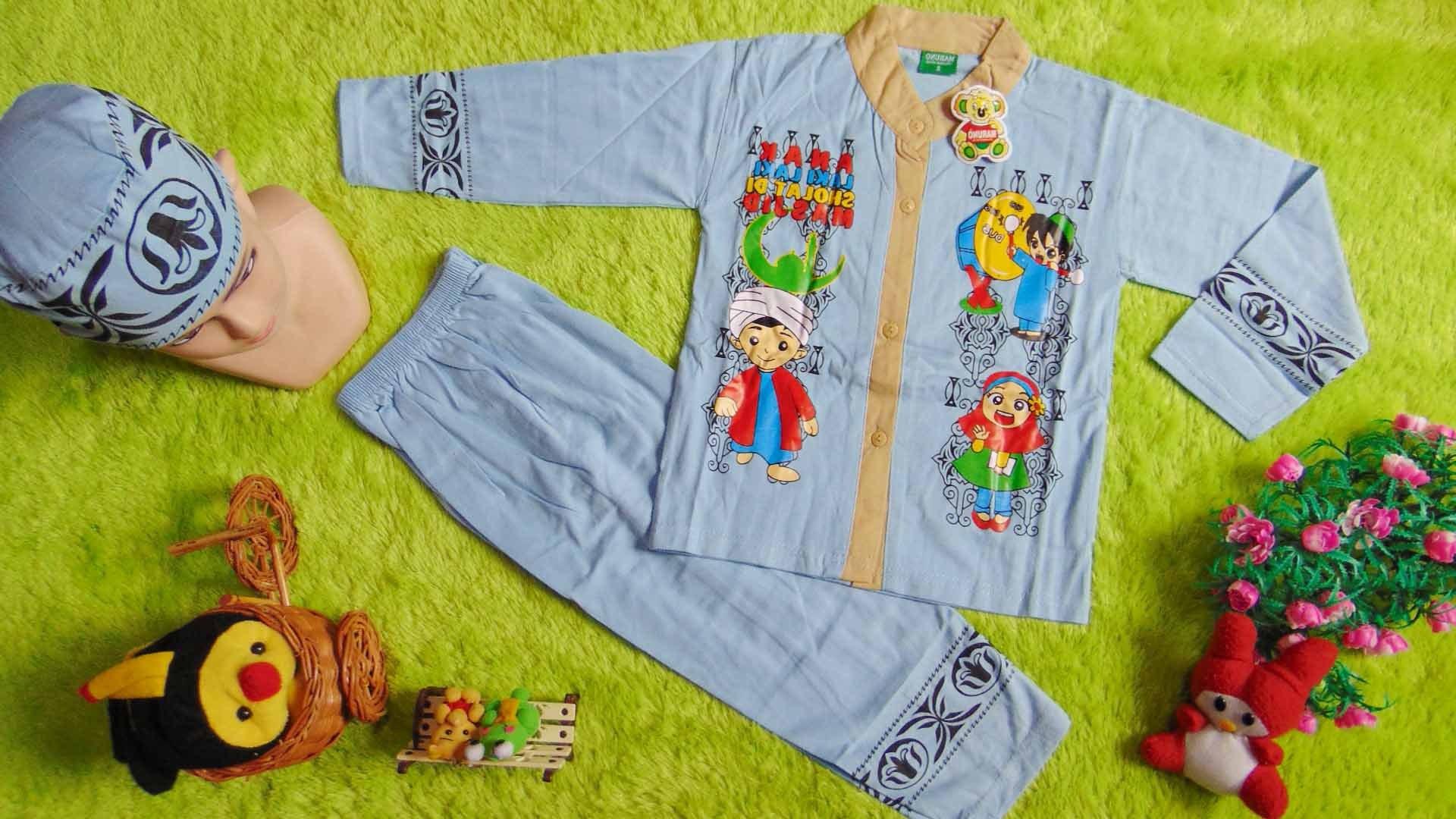 Ide Baju Lebaran Anak 1 Tahun X8d1 Paling Laris Setelan Baju Koko Muslim Lebaran Ramadhan
