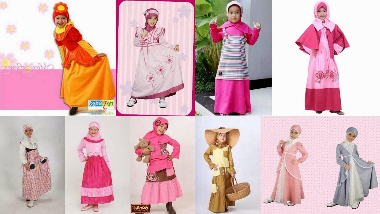 Ide Baju Lebaran Anak Anak Perempuan 4pde Contoh Model Baju Muslim Anak Perempuan Terbaru 2014