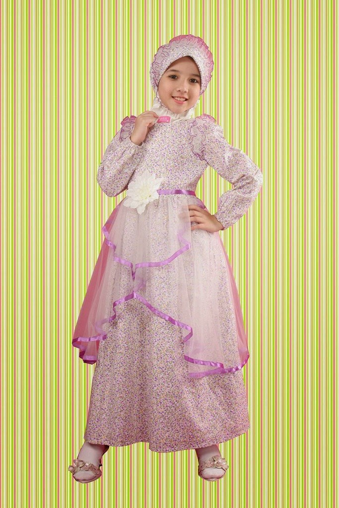 Ide Baju Lebaran Anak Anak Perempuan S1du 40 Model Baju Muslim Lebaran Anak Perempuan Terbaru 2020