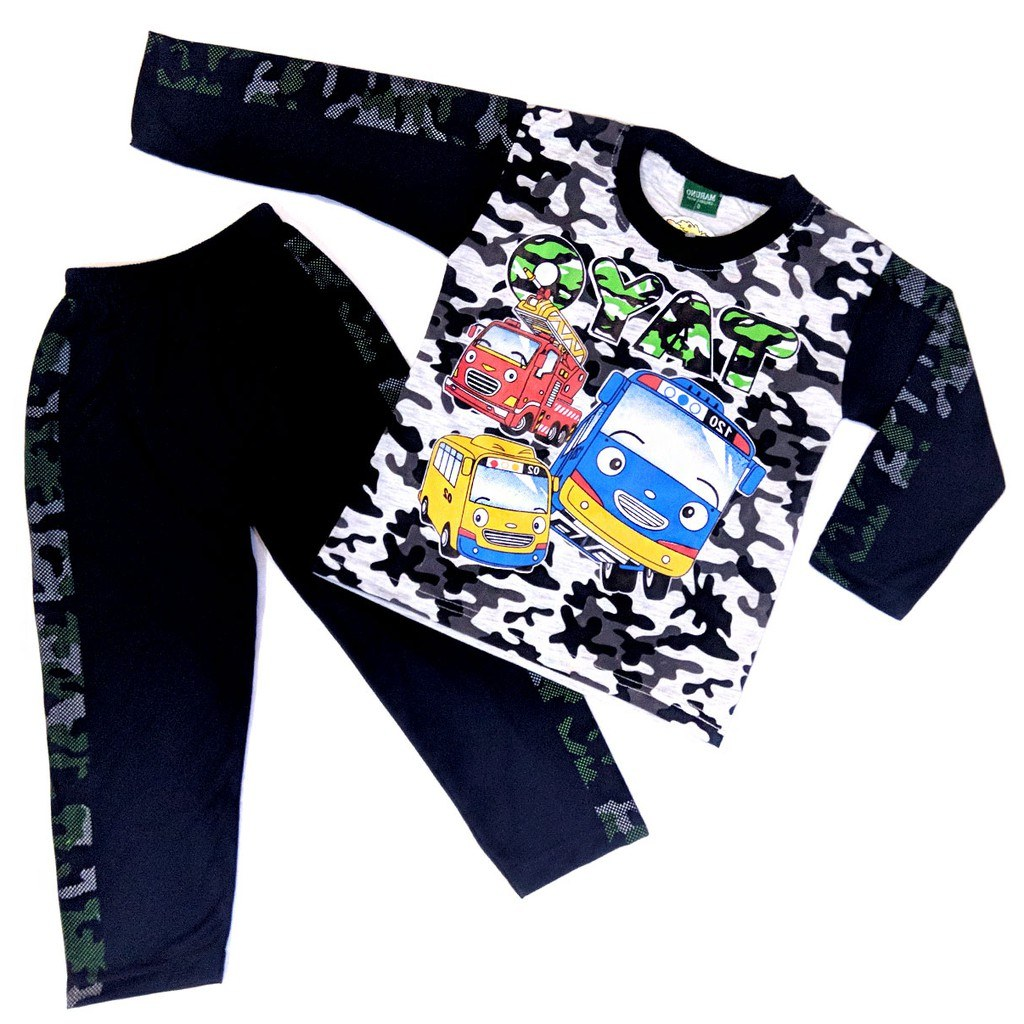 Ide Baju Lebaran Anak Perempuan Umur 10 Tahun Dddy Tayo 0 10 Tahun Maruno Baju Tidur Piyama Anak Laki