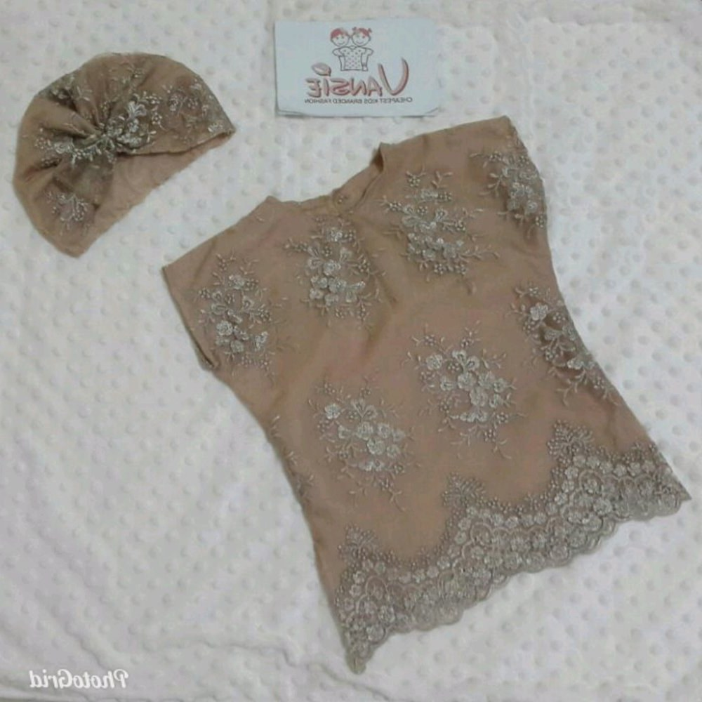 Ide Baju Lebaran Bayi Perempuan 3id6 Jual Baju Muslim Lebaran Bayi Anak Kaftan Set Turban